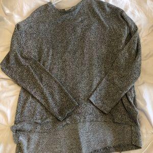ZARA girls long sleeve shirt with sweater material